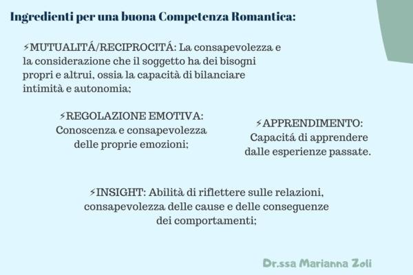 Competenza romantica: abilità per vivere le relazioni nel modo migliore