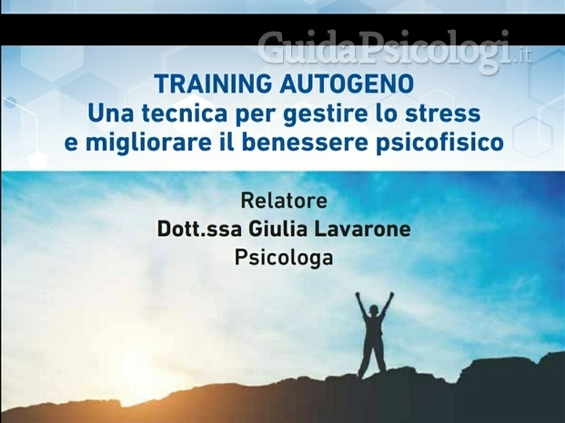 Conferenza sulla tecnica del training autogeno