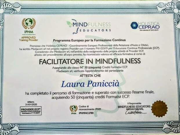 Attestato di Facilitatore Mindfulness
