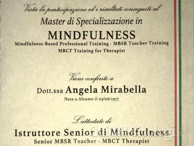 Master di Specializzazione in Mindfulness - Accreditamenti Mindfulness Based Professional Training