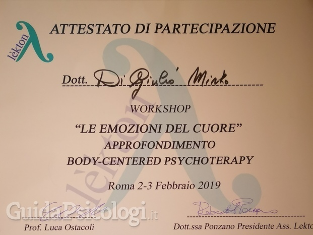 Workshop II of Body Centered Psychotherapy