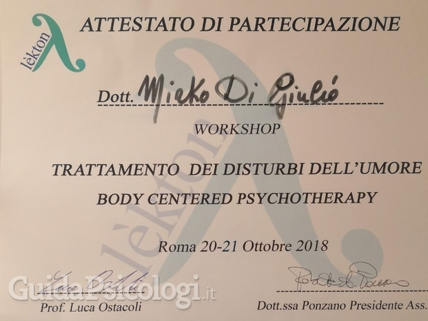Workshop I of  Body Centered Psychotherapy